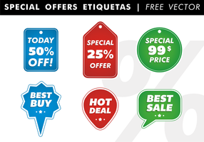Speciale aanbiedingen Etiquetas Free Vector