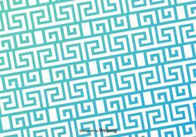 Griekse Key Blue Pattern Vector Achtergrond