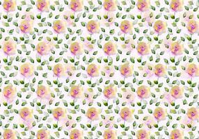 Gratis Vector Waterverf Bloemenachtergrond