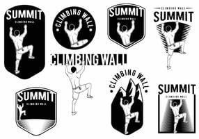 Klimmuur badge set
