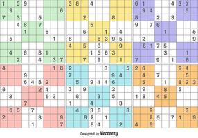 Vector Sudoku puzzelspel