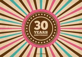 30 jarige jubileum illustratie vector