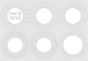 Laser cut templates vector