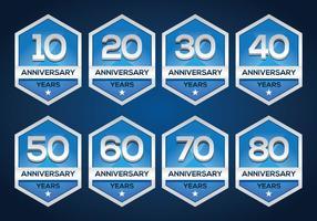 Gratis Anniversary Embleem vector
