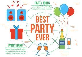 Gratis Beste Party Vector