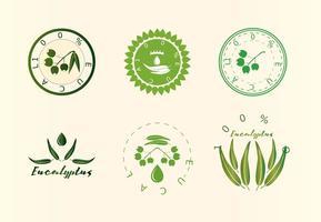 Eucalyptus logo's vector