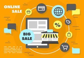 Gratis online verkoop vector