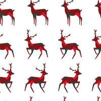 Kerst naadloze patroon met tartan rendieren