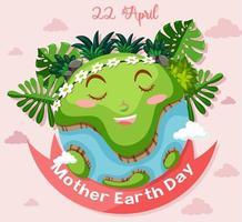 posterontwerp voor de dag van de aarde van de moeder