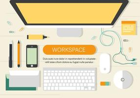 Free Work Space Vector Illiustratie