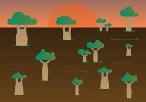 Gratis Baobab Bomen Vector