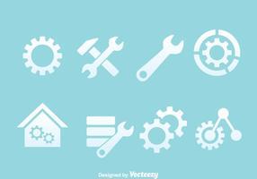 Service tools iconen vectoren
