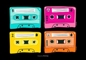 Vintage Mixtapes Vectoren