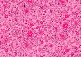 Roze Herhaling Bloempatroon vector