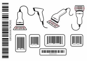 Streepjescodescanner vector