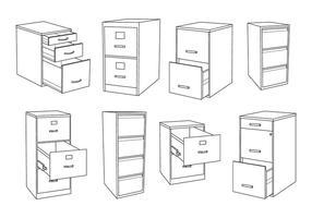 Gratis File Cabinet Vector