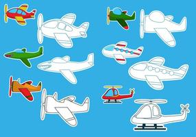 Het kleuren van de vliegtuigvectoren vector