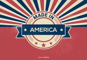 Retro Stijl Gemaakt In Amerika Illustratie vector