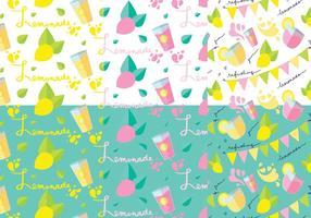 Lemonade Stand Patroon Set vector