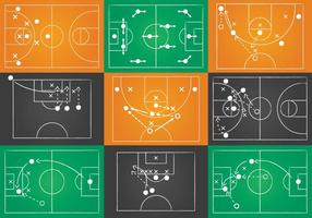 Sport speelboek vector set