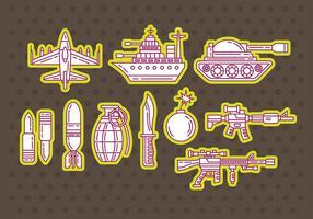 Vector pictogrammen van de Wereldoorlog