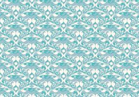 Gratis Vector Zacht Blauw Westelijk Bloemenpatroon