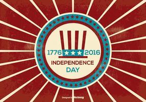 Retro Onafhankelijkheidsdag Illustratie vector