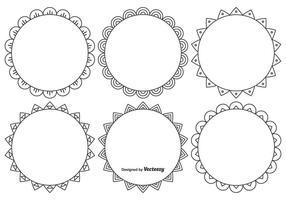 Leuke Decoratieve Frame Set vector