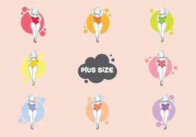 Gratis Plus Size Vrouw Vector