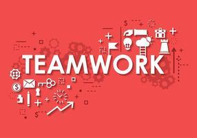 Business Teamwork Banner Achtergrond vector