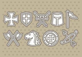 Templar iconen vector
