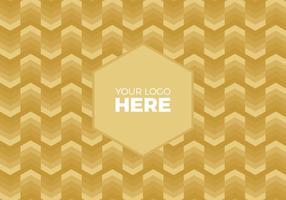 Gratis Vector Gouden Chevron Logo Achtergrond
