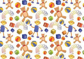 Kinderen speelgoed patroon vectoren