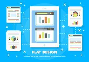 Gratis Flat Design Vector