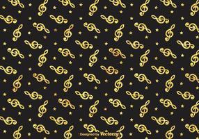 Gouden Viool Sleutel Vector Patroon
