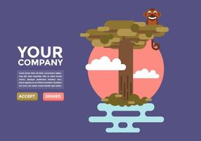 Baobab Drie Illustratie Vector