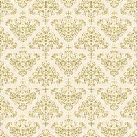 naadloos goud ingewikkeld decoratief damastpatroon