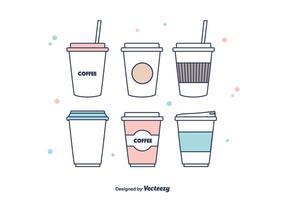 Koffie mouw Vector