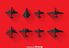 Vector illustratie van het vliegtuig silhouet