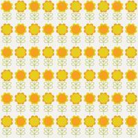 oranje en gele naadloze bloemenpatroon