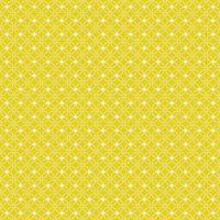 geel en wit bloemen geometrisch naadloos patroon