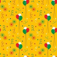 Cinco de Mayo ballonnen en vuurwerk naadloos patroon