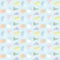 Memphis stijl abstract naadloos patroon
