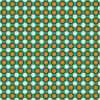 retro blauw en oranje geometrisch naadloos patroon
