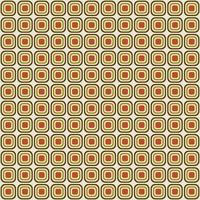 retro mod afgerond vierkant naadloos patroon