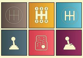 Versnellingsbak pictogram custom set