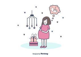 Gratis Zwangere Mamma Vector