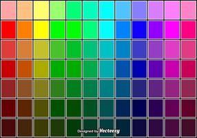Koele vector kleurstalen