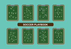 Voetbal playbook vector