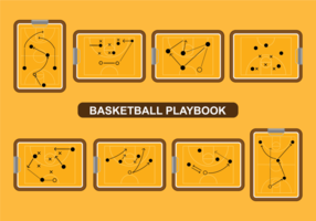 Basketbal Playbook Vector